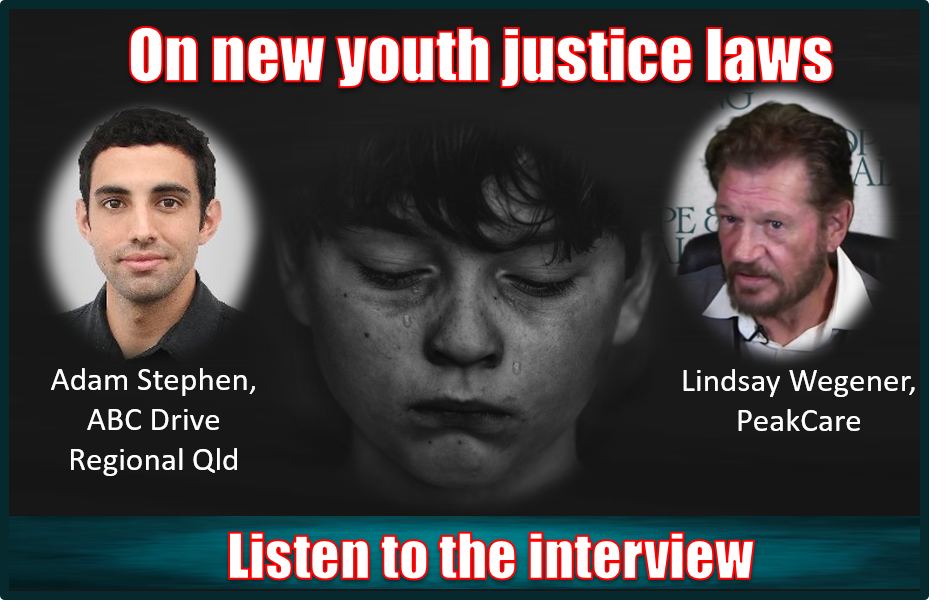 Listen to the latest interview with Lindsay Wegener speaking to the ABC about new youth justice reforms